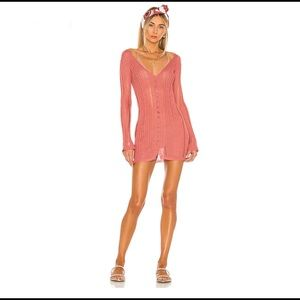 Cult Gaia Laila Knit Dress in Wild Rose Large